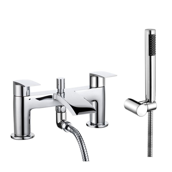 Granlusso Amalfi Chrome Bath Shower Mixer With Handset Kit