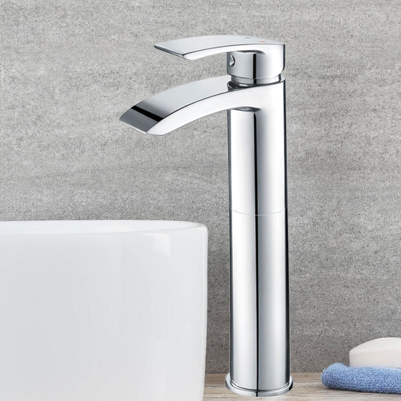 Granlusso Amalfi Tall Basin Mixer Chrome Monobloc With Click-Clack Waste