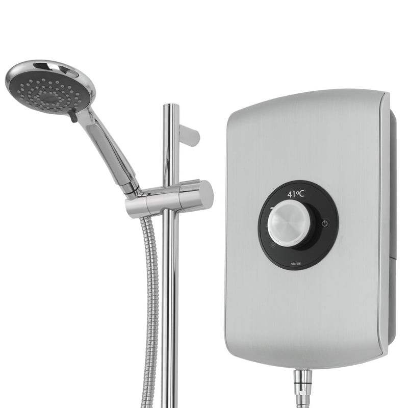 Triton Amore Brushed Steel Electric Shower