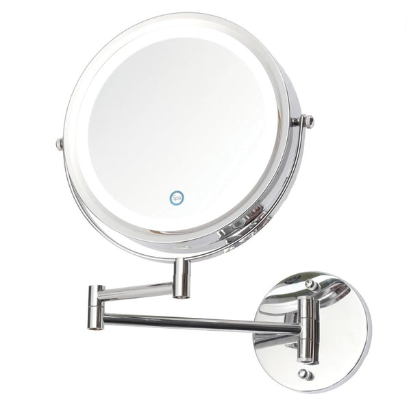 Granlusso LED Chrome Wall Hung Battery Operated Make Up Mirror