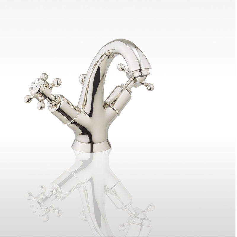 Belgravia Crosshead Highneck Basin Mixer With Pop Up Waste