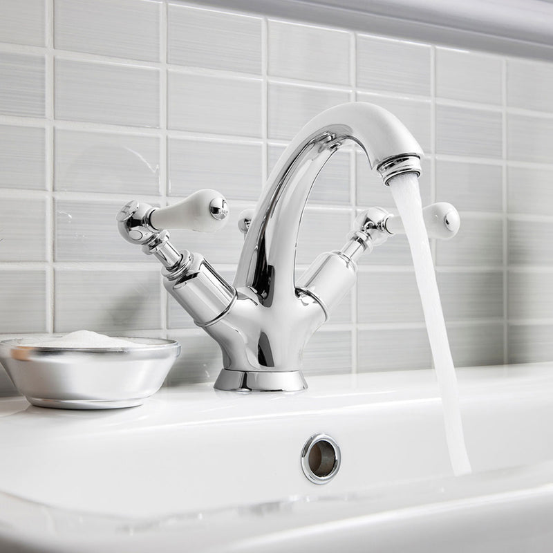Belgravia Highneck Lever Basin Mono Mixer With Pop Up Waste - Chrome