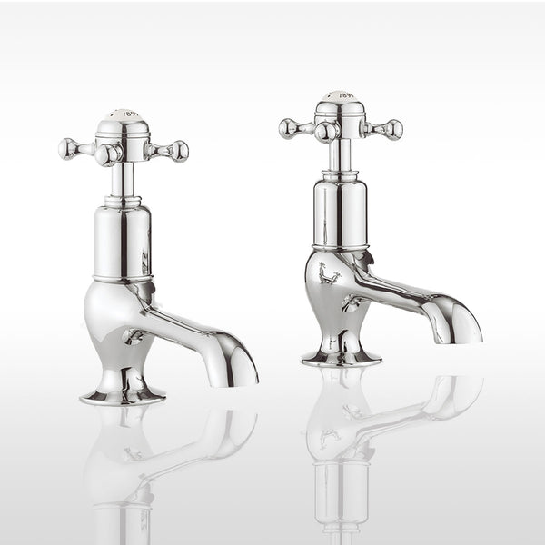 Belgravia Crosshead Long Nose Basin Taps - Chrome