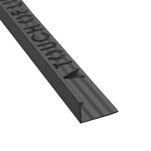 Flat Edge Black Aluminium Tile Trim