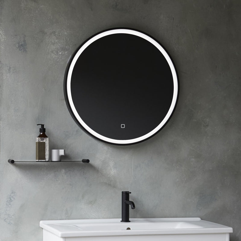 Hoxton LED Illuminated Mirror with Demister Matt Black