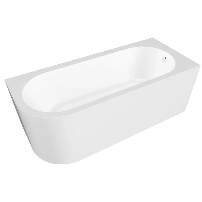 Brookvale Standard Curved Bath With Panel 1700 x 725mm White