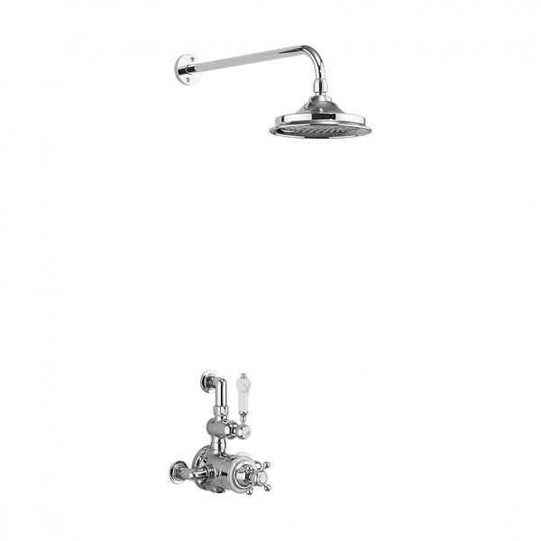 Burlington Avon Thermostatic Single Exposed Shower Valve with Fixed Shower Head