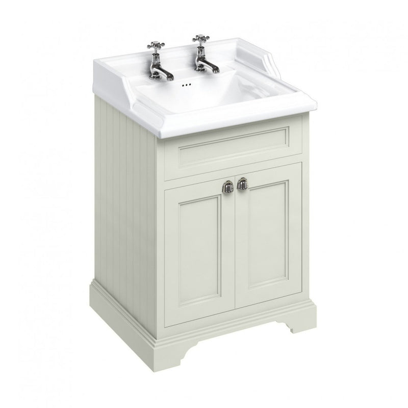 Burlington Freestanding 650 Two Door Vanity Unit and Classic Basin With Overflow
