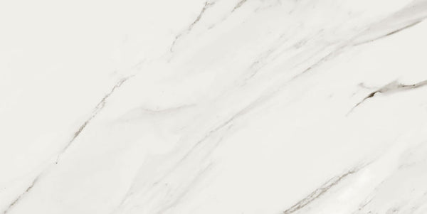 Deluxe Calacatta Ceramic Marble Effect Wall Tile 30 x 100cm
