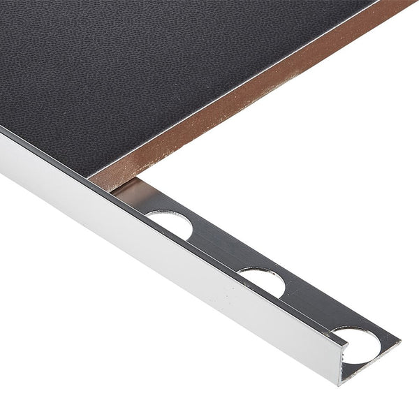 Chrome square edge tile trim