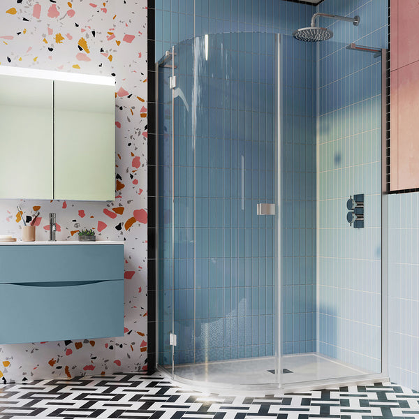 Crosswater DESIGN 8 Offset Quadrant Single Shower Door