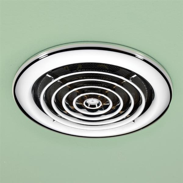 HiB Cyclone Round Bathroom Inline Ventilation Fan