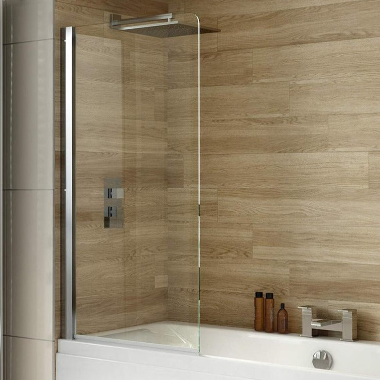 iBATH6 Curved Top Hinged Bath Screen 800 x 1500mm