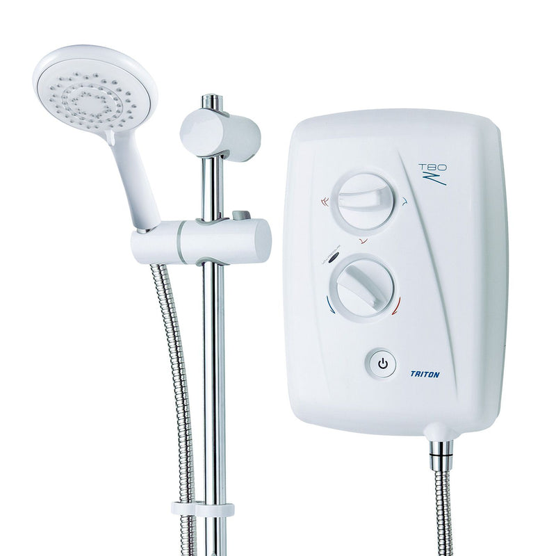 Triton T80z Fast-Fit 9kW White Electric Shower