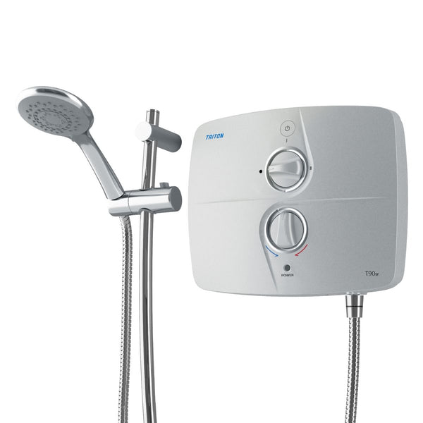 Triton T90sr Satin 9kW Silent Electric Shower