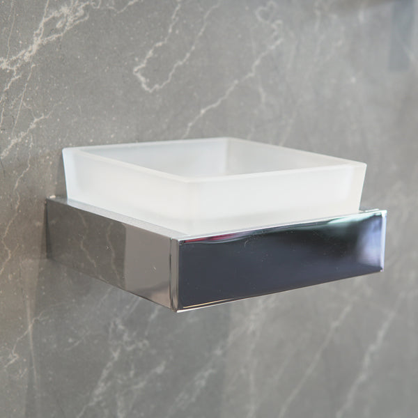 Enzo Frosted Glass Soap Dish