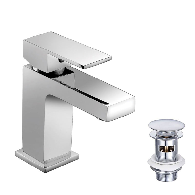 Granlusso Enzo Basin Mixer Chrome With Click-Clack Waste