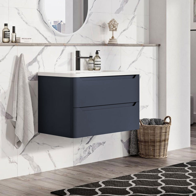 Granlusso Enzo Double Drawer Wall Hung Vanity Unit