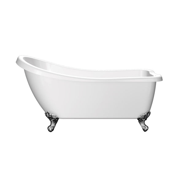 Fairfax Traditional Freestanding Single Ended Slipper Acrylic Bath