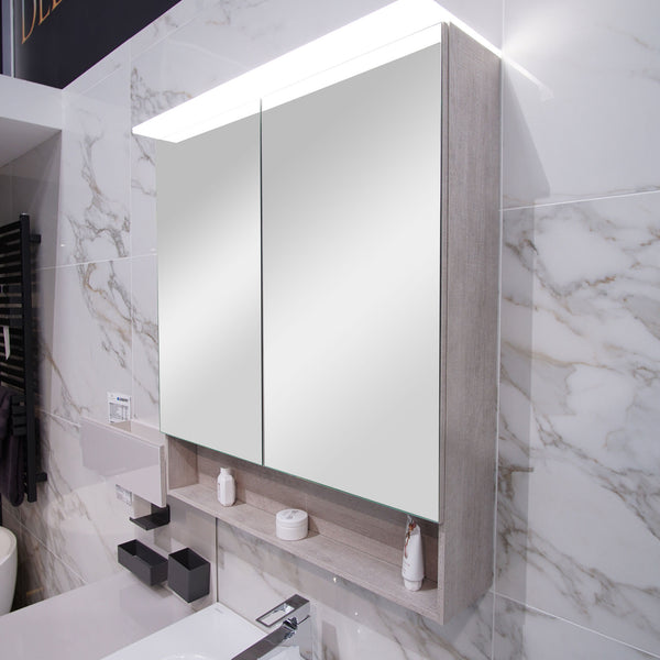 Geberit Acanto Double Door Mirror Cabinet With LED Lighting