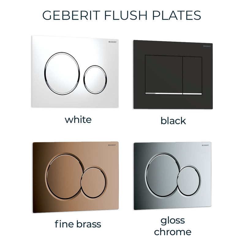 Geberit iCon Rimless Wall Hung Toilet Pan with Geberit Duofix WC Frame & Sigma 12cm Cistern
