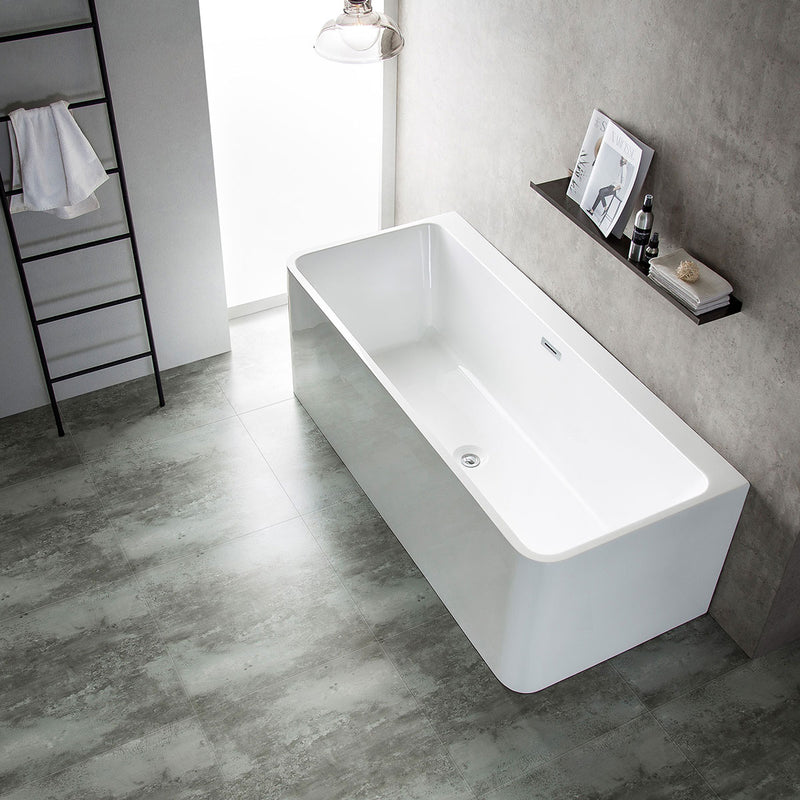 Granlusso Enzo Freestanding Back To Wall Corner Bath 1600mm