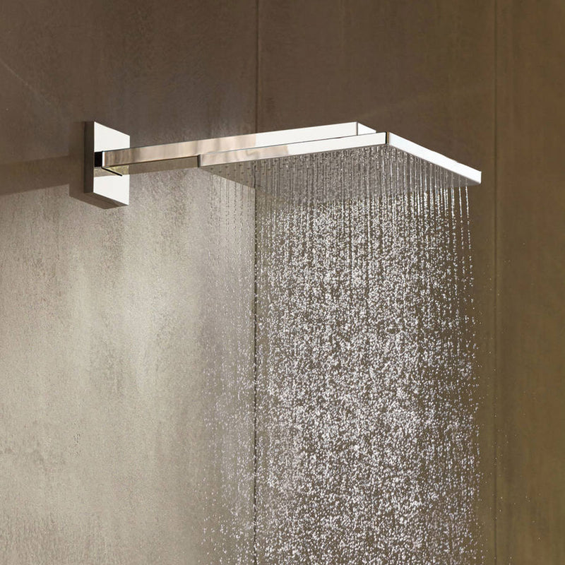 Hansgrohe Square Thermostatic Shower Valve with Raindance 300 Overhead & Baton Handset