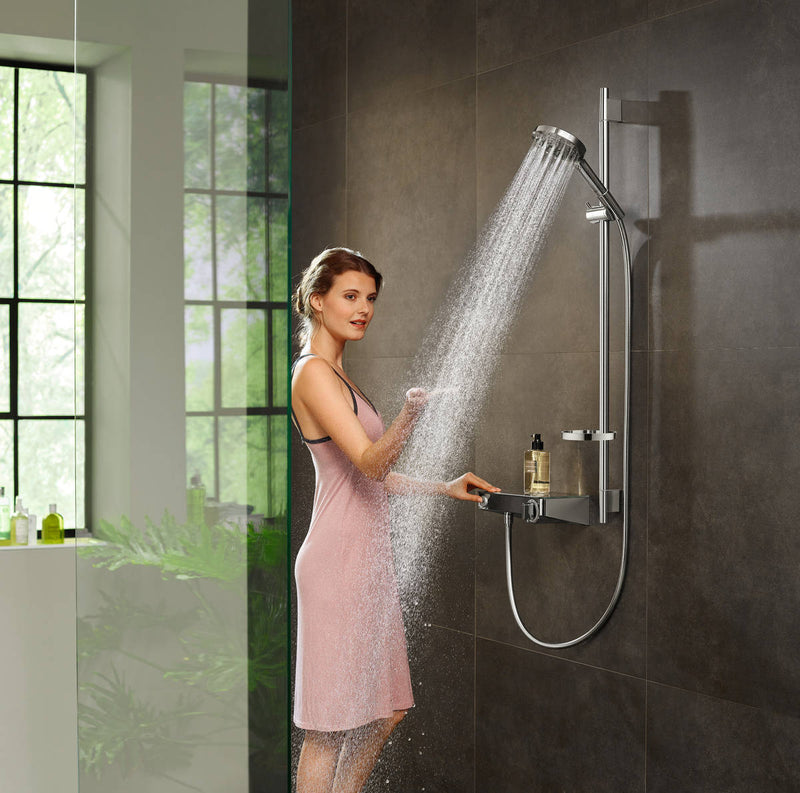 Hansgrohe RainDance SELECT E 3jet Shower System With ShowerTablet Valve & 90cm Shower Rail