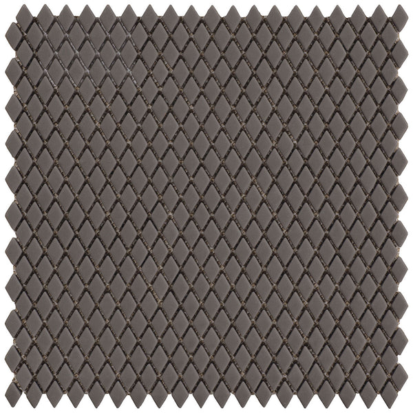 HARMONY Calm Silence Black Matt Diamond-Shaped Mosaic Tile Sheet 29 x 29cm