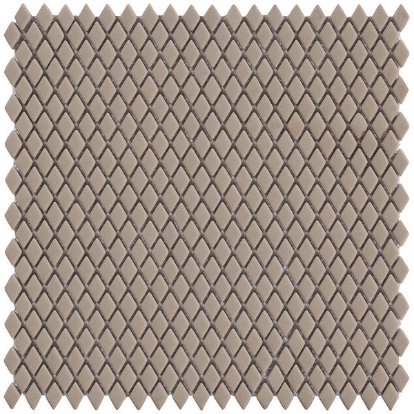 HARMONY Calm Silence Cream Matt Diamond-Shaped Mosaic Tile Sheet 29 x 29cm