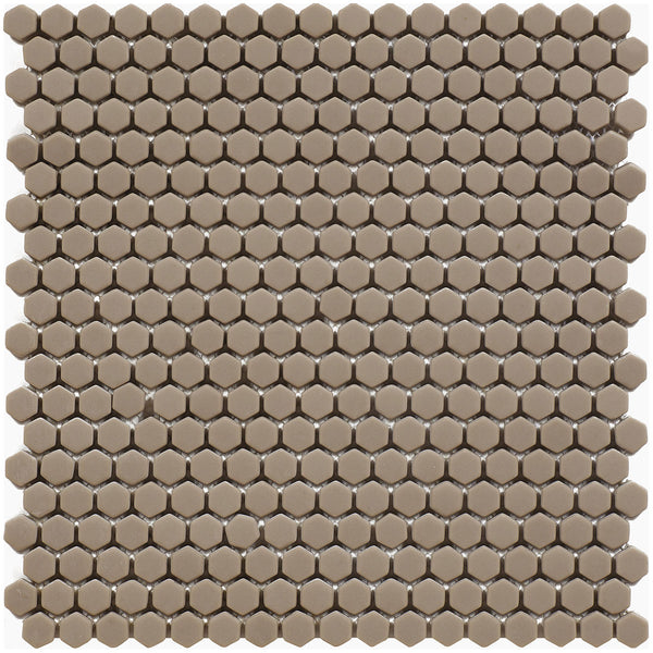 HARMONY Calm Cream Matt Hexagon Mosaic Tile Sheet 29 x 29cm