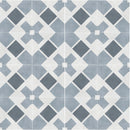 Havana White Cross Matt Porcelain Tile 22 x 22cm
