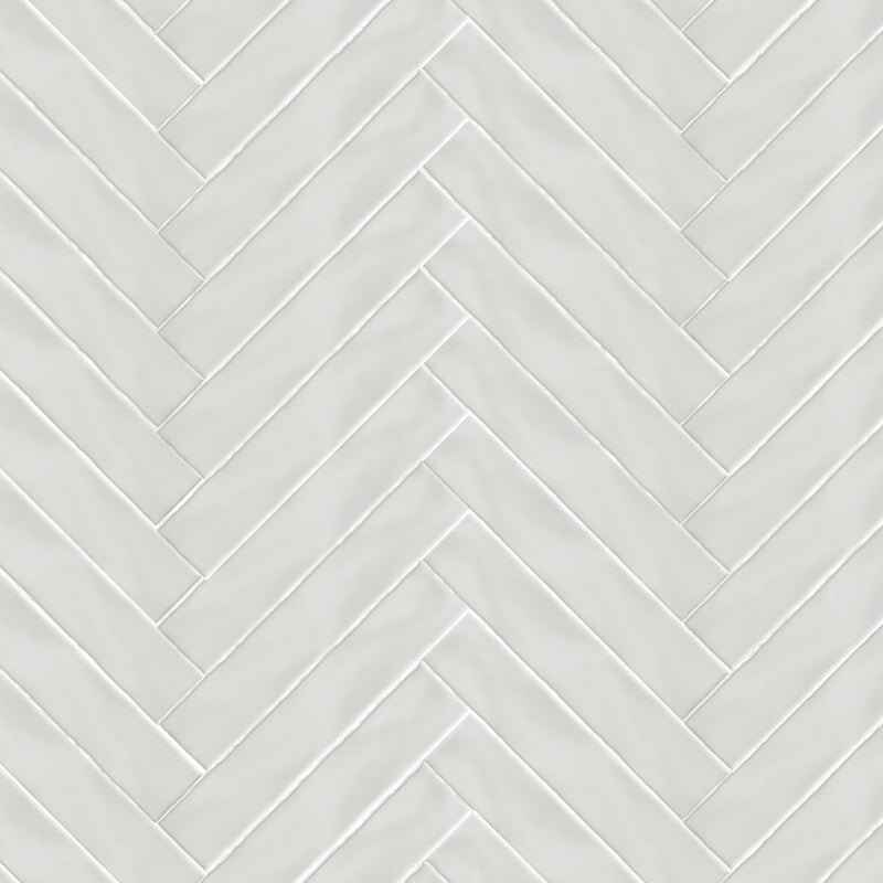 HARMONY Peace White Matt Wall Tile 7.5 x 30cm
