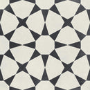 HARMONY Cuban White Star Matt Porcelain Tile 22 x 22cm