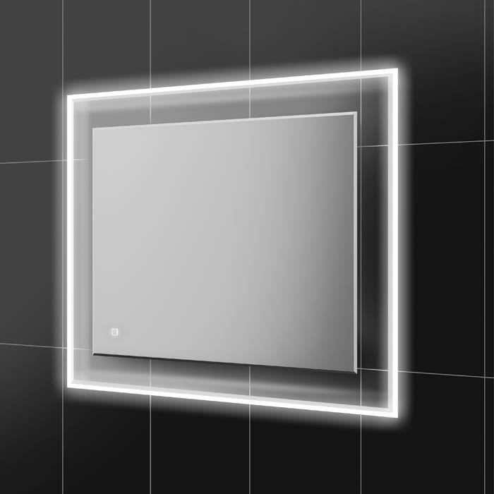 HiB Element Mirror With LED Illuminated Frame and Demister Pad