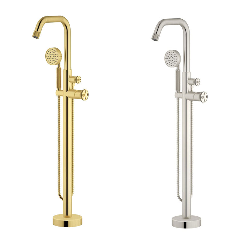 Industrial Floor Standing Bath Shower Mixer