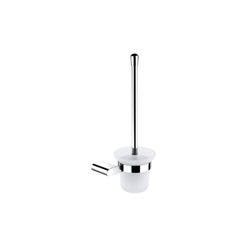 Jordan Frosted Glass Toilet Brush Holder