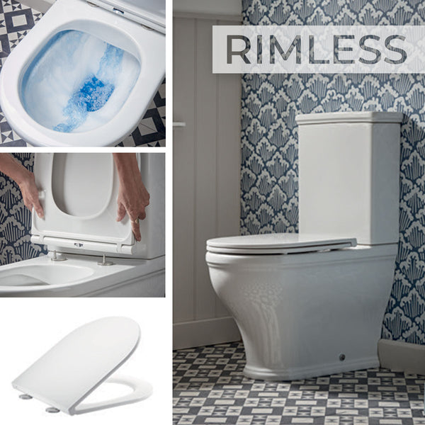 Lansdown Rimless Close Coupled Short Projection Toilet Suite