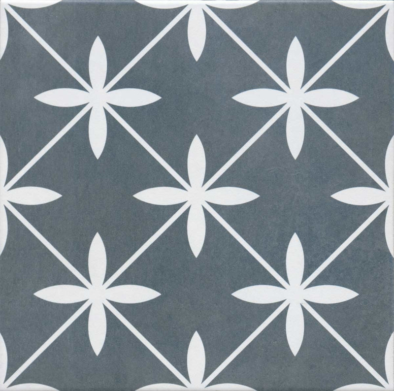 Laura Ashley Wicker Charcoal Floor And Wall Tile 33cm x 33cm