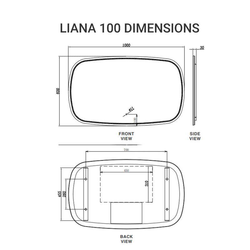 Liana 100 LED Mirror