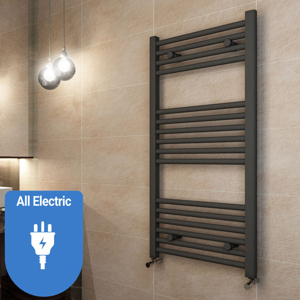Madrid All Electric Heated Towel Rail - Matt Anthracite