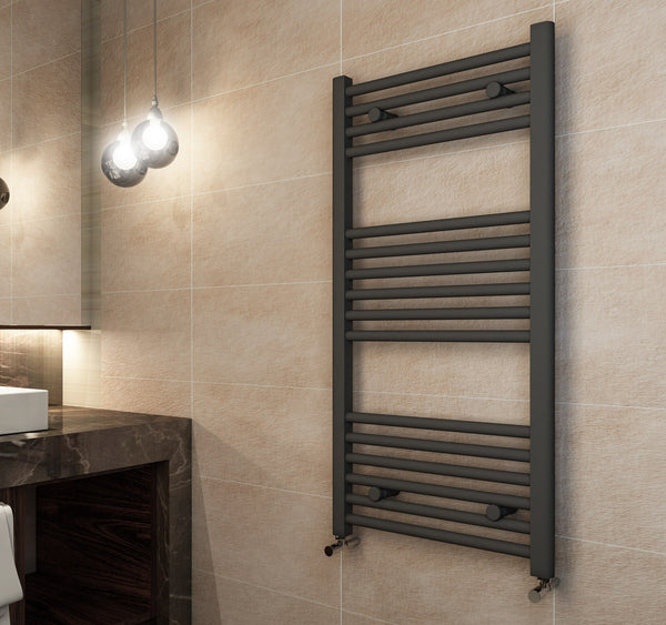Madrid Heated Towel Rail - Matt Anthracite