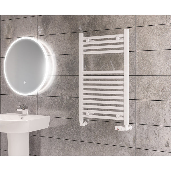 Madrid Heated Towel Rail - Gloss White
