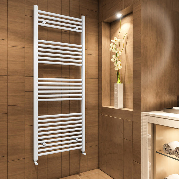 Madrid Heated Towel Rail - Matt White