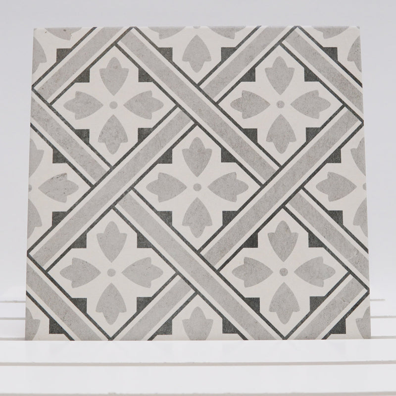 Laura Ashley Mr Jones Charcoal Floor Tile 33cm x 33cm