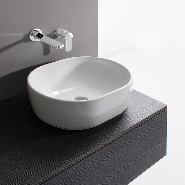 Crosswater Pearl Gloss White Countertop Basin