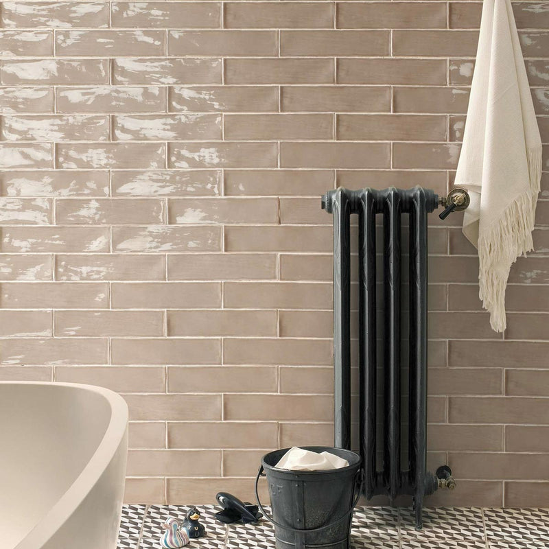 HARMONY Poitiers Latte Gloss Wall Tile 7.5 x 30cm