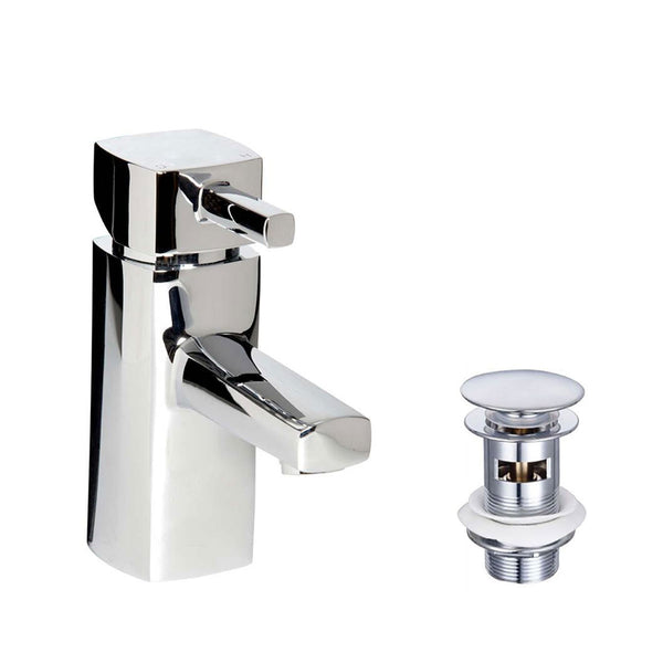 Granlusso Portofino Basin Mixer Chrome With Click-Clack Waste