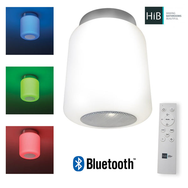 HiB Rhythm Colour Changing Ceiling Light With Bluetooth Speaker & Remote Control