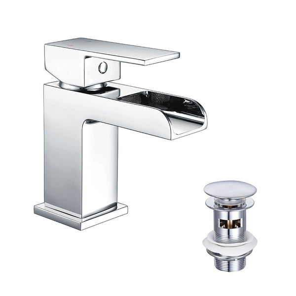 Granlusso Riviera Basin Mixer Chrome With Click-Clack Waste